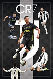 CR7 Cristiano Ronaldo Juventus FC Sports Soccer Poster 24in x 36in