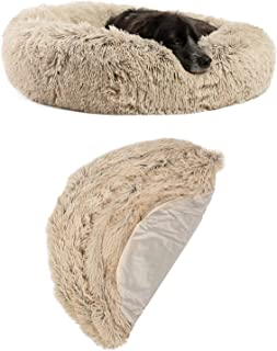 "Best Friends by Sheri Bundle Savings - The Original Calming Shag Donut Cuddler Dog Bed in Medium 30"" x 30"" and Additional ..."