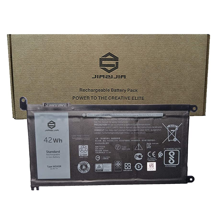 JIAZIJIA WDX0R Laptop Battery Compatible with Dell Inspiron 5368 5378 5379 5538 5565 5567 5568 5578 5767 5770 7368 7378 7460 7560 7569 7570 7579 7580 Series Notebook T2JX4 Black 11.4V 42Wh 3500mAh
