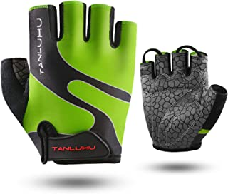 Tanluhu Cycling Gloves Bike Gloves Biking Gloves Half Finger Bicycle Gloves - Anti-Slip...
