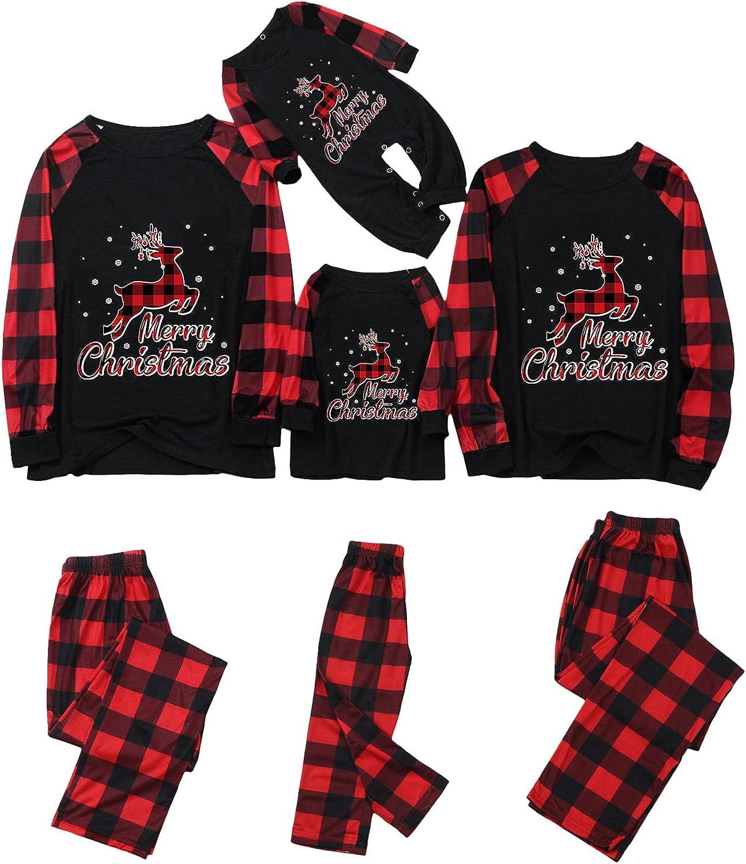 Nihewoo Family Matching Pajama Sets,Christmas PJs for Holiday Xmas Sleepwear Snowman 2Pcs Loungewear Set