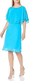 Tahari by Arthur S. Levine Women's Flutter Sleeeve Chiffon Dress