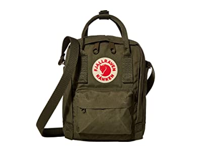 Fjallraven Kanken Sling (Green) Cross Body Handbags