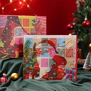 Fangkun Advent Calendar 2021 Christmas Countdown Calendar Xmas Tree Snowman Jewelry Gift Boxes DIY Charm Bracelet Making K...