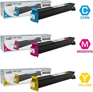 LD Compatible Toner Cartridge Replacement for Konica Minolta Bizhub C203 & C253 (Cyan, Magenta, Yellow, 3-Pack)