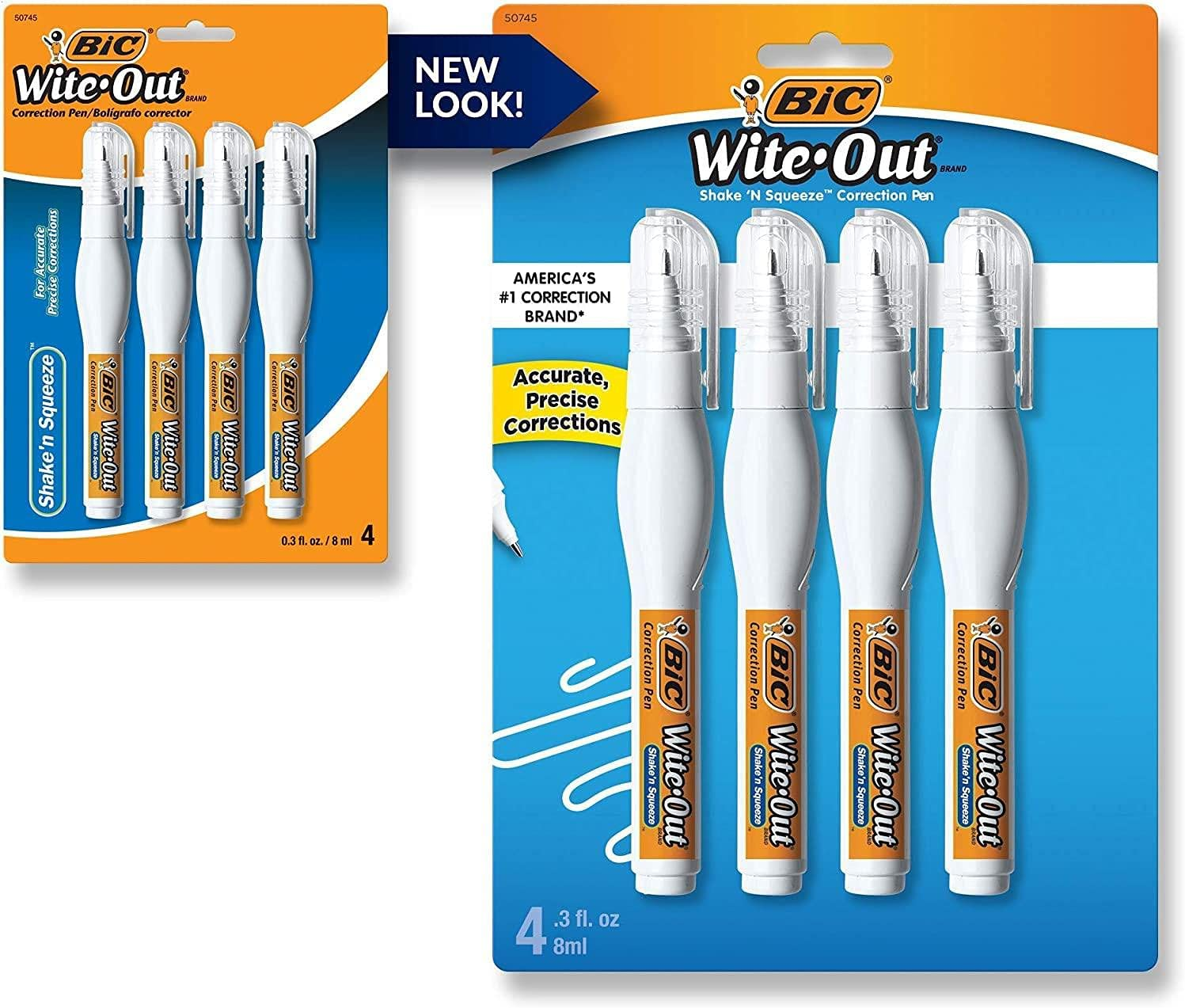 Wite-Out Shake 'n Squeeze Manufacturer regenerated product Correction Pen W ml Tulsa Mall White Pack 4 8