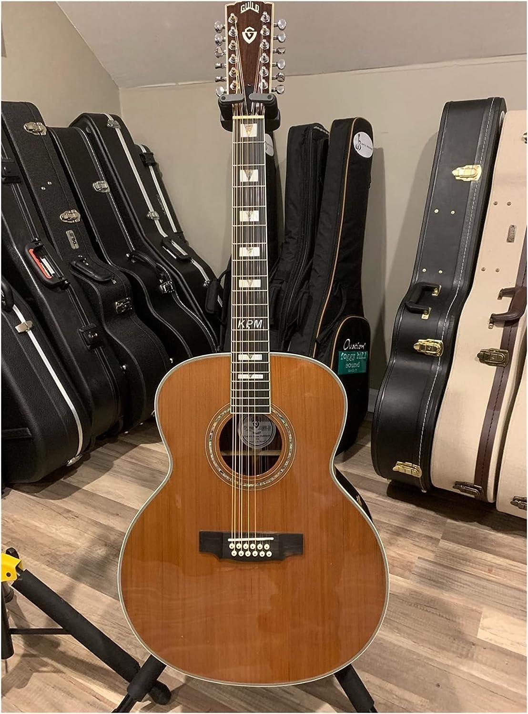 Guitarra Ebony F512 Lefty Guitar 12 Strings Acústica Electric Solid Guitar Guild Guild Style Guitarra acústica Izquierda Apto para Jugadores en Todas Las etapas. Guitarra de Madera AMINÍ