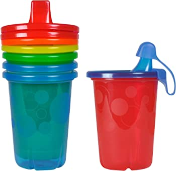 The First Years Take & Toss Spill-Proof Sippy Cups 10 Ounce, 4 Count