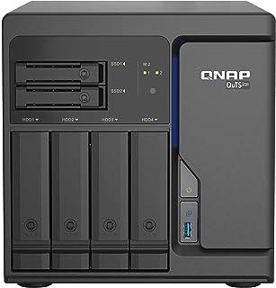 Qnap TS H686 D1602 8G 6 Bay Desktop NAS Gehäuse, Netzwerkspeicher mit 4 x 2.5GbE Ports, 4 x 3.5 inch Drive Bays & 2 x 2.5 inch SATA Drive Bays