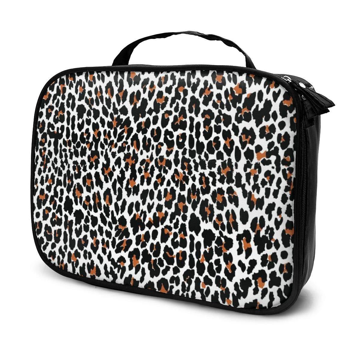 Leopard Dedication Print Makeup BagTravel Case Train shipfree