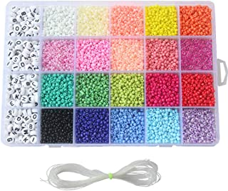 3300PCS Seed Bead Set Mini 24-Grid DIY Craft Bead with Rope for Jewelry Making