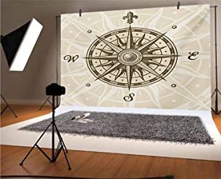 Compass 20x10 FT Vinyl Photography Background Backdrops,Sun Motif Backdrop with Windrose Directions East West North South ...