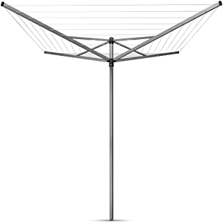 Brabantia Topspinner Rotary Dryer Clothesline with Ground Spike, 131 Feet, Silver