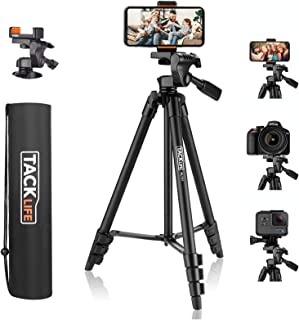 "Lightweight Tripod 55-Inch, Aluminum Travel/Camera/Phone Tripod with Carry Bag, Maximum Load Capacity 6.6 LB, 1/4"" Mountin..."