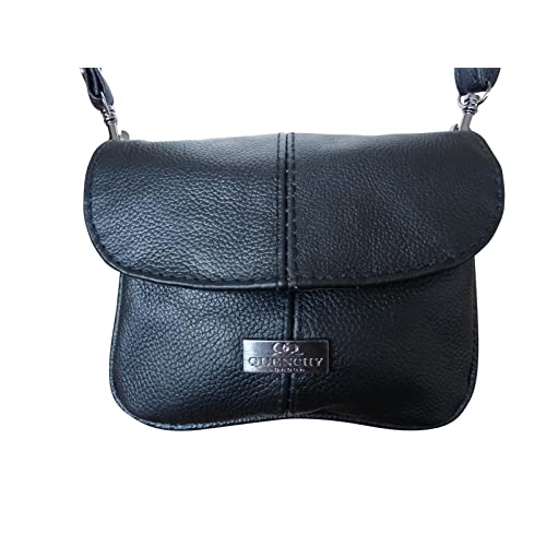 c6efcd50c6d Ladies Small Genuine Soft Leather Cross Body Shoulder Bag – 3 pockets – Holiday  Neck Pouch