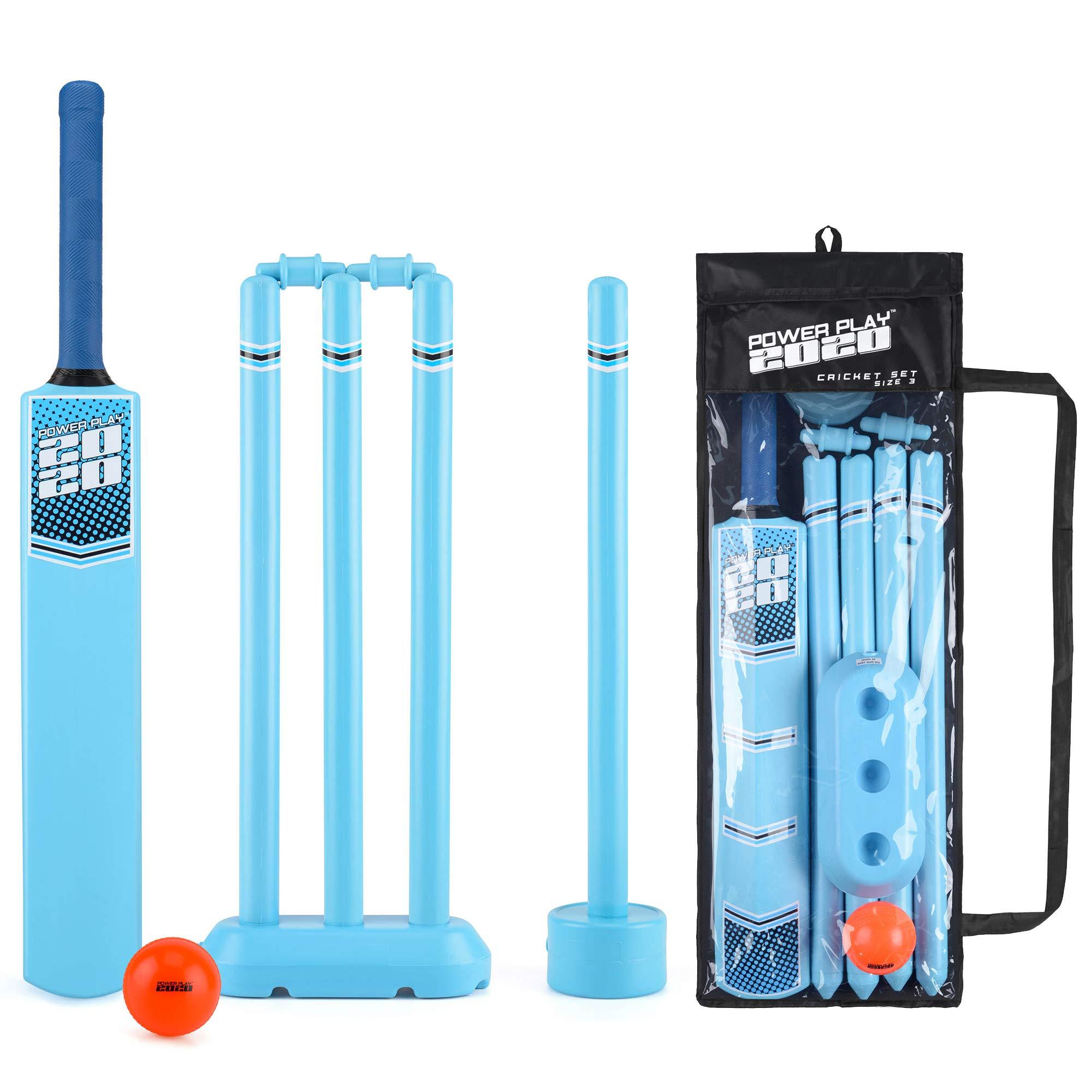 Cricket Set Bat Stumps Ball Bag Gray-Nicolls Powerplay Plastic Garden Beach