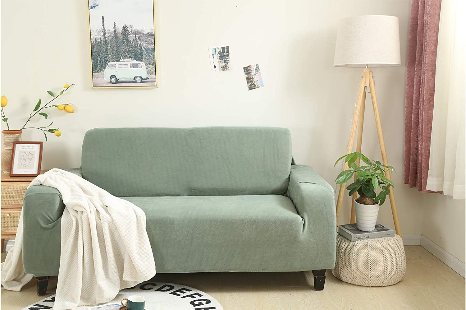 OFFicial shop Kindred Home Couch Cover Sofa Loveseat Slipcover Max 79% OFF Mint Stretchy