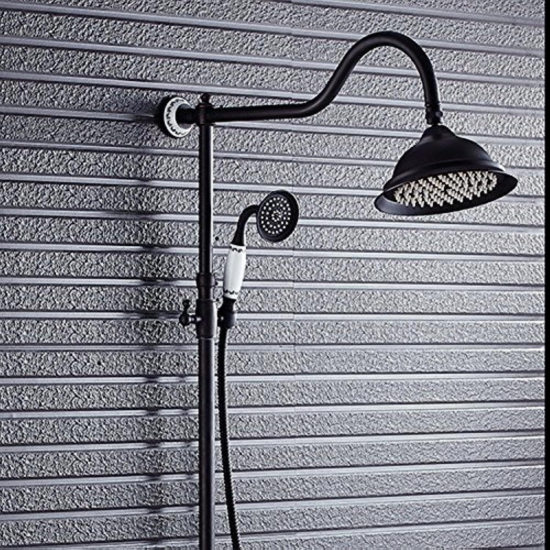 Willsego Dusche Europische Antike Schwarze Vollkupferdusche Wasserhahn High-End Dusche