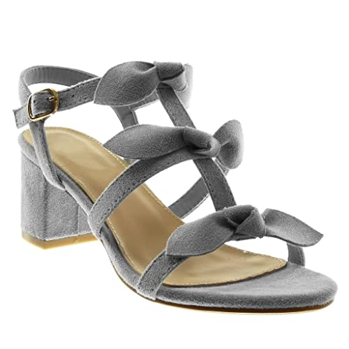 ffc8b155782c33 Angkorly Women s Fashion Shoes Sandals - Ankle Strap - Knot - Node - Multi  Straps Block