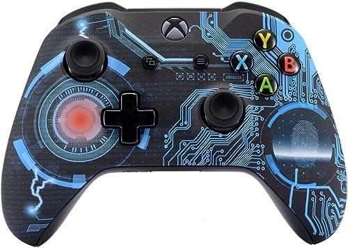 eXtremeRate Coque Avant,Boîtier Housse de Remplacement pour Xbox One X/S Manette Contrôleur(Modèle 1708)-Circuit