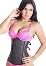 LadySlim by NuvoFit Lady Slim Fajas Colombiana Latex Waist Cincher/Trainer/Trimmer/Corset Weight Loss Shaper