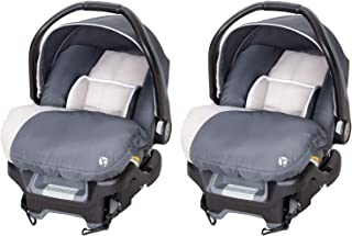 Baby Trend Ally Adjustable 35 Pound Baby Car Seat with Base, Magnolia (2 Pack)