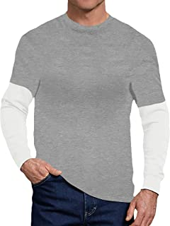 Sponsored Ad - CHAD SCOTT - Men's Long Sleeve Casual Shirt, Layered Thermal T Shirt, Activewear for Him, Workout Clothing