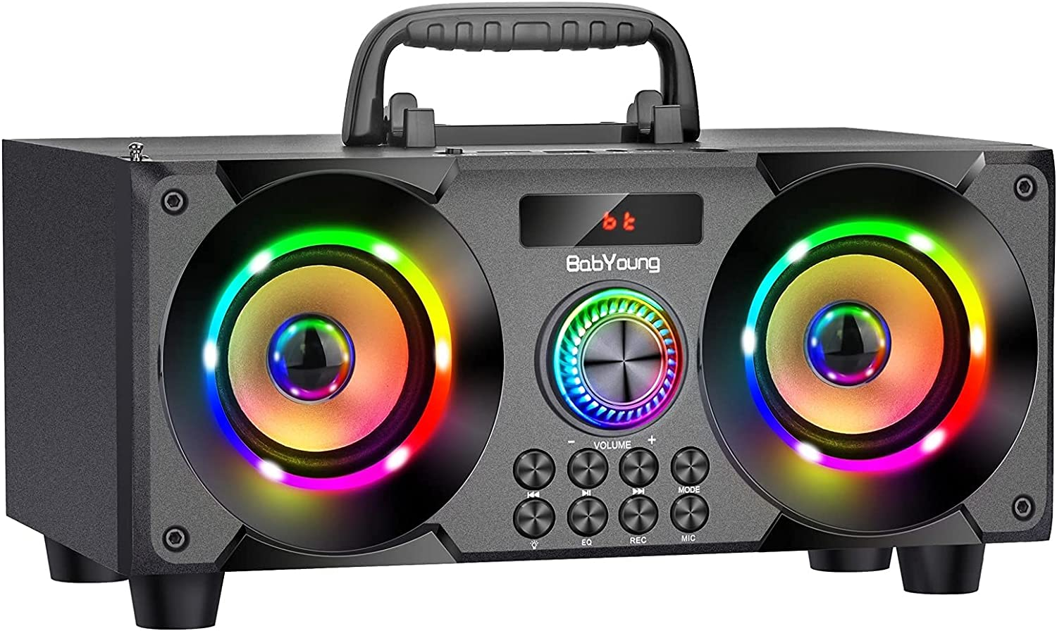 60W Portable Bluetooth 5 popular Speaker with Wirele Heavy outlet Bass Subwoofer