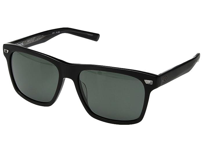 Costa  Aransas (Matte Black Frame/Gray 580G) Athletic Performance Sport Sunglasses