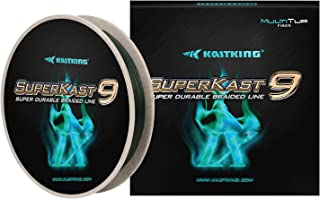 KastKing SuperKast9-9 Strand Braided Fishing Line – Advanced Braid Line for Maximum Casting Distance & Durability for Saltwater & Fresh Water Surf Fishing, Bass Fishing