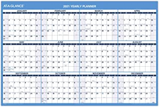 "$44 » 2021 Erasable Calendar, Dry Erase Wall Planner by AT-A-GLANCE, 48"" x 32"", Jumbo, Horizontal, Reversible for Planning Space..."