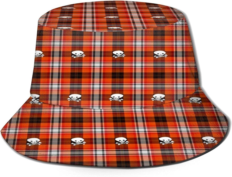 Scottish 5% OFF Terrier Plaid Skull Excellence Bucket Hat Unisex Summer Sun Pa