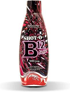 NaturesPlus Liquilicious Shot-O-B12 Liquid (Cyanocobalamin) - 5000 mcg, 30 fl oz - Cherry Flavor - High Potency Vitamin B12 Supplement, Energy Booster - Vegetarian, Gluten-Free - 30 Servings