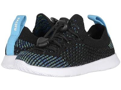 Native Kids Shoes AP Mercury Liteknit (Toddler) (Jiffy Black/Blue Melange/Shell White) Kid