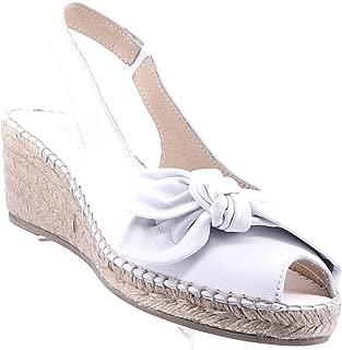 The Natural Shoe Company Belinda Espadrille Wedge - White
