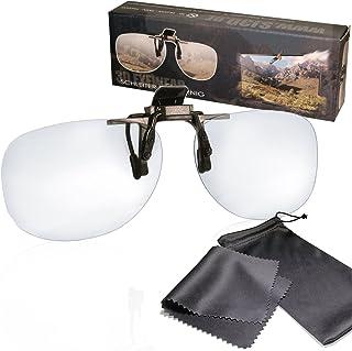 Gafas de clip 3D pasiva Version 1 para RealD - un montaje/sobrepuesto para personas que llevan gafas - Polarizadas circular - Compatible con Cinema 3D de LG, Easy 3D de Philips, televisores 3D con polarización circular de Toshiba, Grundig, Sony, Panasonic y RealD en los cines - No Gafas 3D activas - No Active Shutter - Con estuche y paño de microfibra