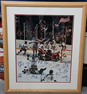 Autographed Signed Memorabilia Framed 1980 Olympic Gold Medal Usa Hockey 16x20 Photo Herb Brooks JSA D