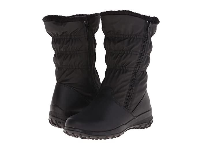 Tundra Boots Petra Wide (Black) Women's Work Boots