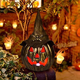 Halloween Pumpkin Lantern 14.96 Inches with LED Light for Halloween Decorations, Backyard, Lawn or Garden Decorations,Halloween Party Favors