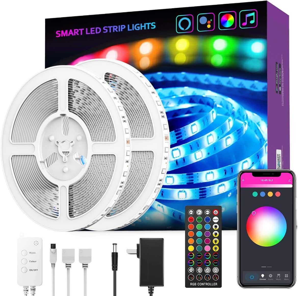 LED Max Selling 48% OFF Light Strip GroHome 32.8ft WiFi Smart Kit Lights Work