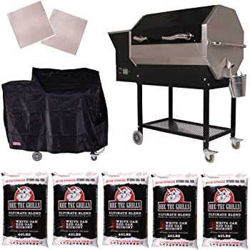 RT-590 | Wifi Enabled | Wood Pellet Grill | Built in Meat Probes | Stainless Steel | 30lb Hopper | 4 year Warranty | Hotflash Ceramic Ignition System
