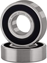 XiKe 2 Pcs 6202-2RS Double Rubber Seal Bearings 15x35x11mm, Pre-Lubricated and Stable Performance and Cost Effective, Deep Groove Ball Bearings.