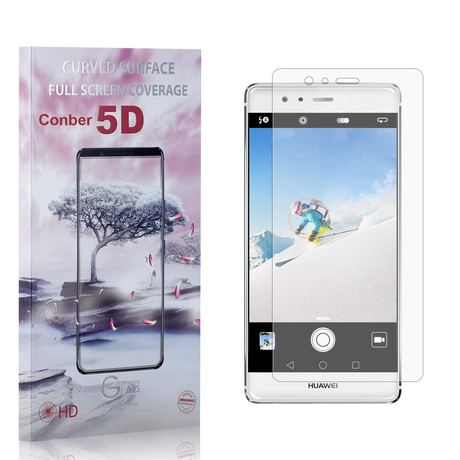 Conber 4 Pack Screen Protector Max 71% OFF Huawei Plus for P9 Topics on TV Anti-Shatt