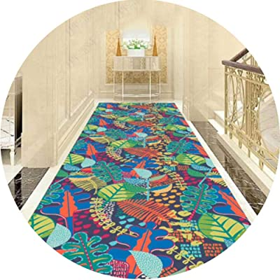 JIAJUAN Runner Rug for Interior Hallway Entry Area Rugs Stain Resistant Easy Care Carpet Hall Kitchen Floor Mat with Low Pile (Color : A, Size : 1.2x3m)