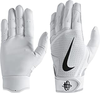Nike Men`s Huarache Edge Batting Gloves White/Black Size Large