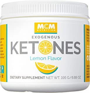 MCM Nutrition – Exogenous Ketones Supplement & BHB - Boosts Energy & Suppresses Appetite - Instant Keto Mix That Puts You into Ketosis Quick & Helps with The Keto Flu (Lemon Flavor - 15 Servings)