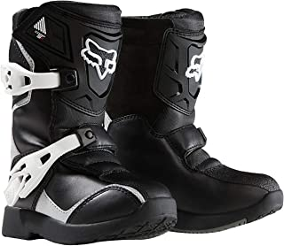2018 Fox Racing Kids Comp 5K Boots-Black/Silver-K10