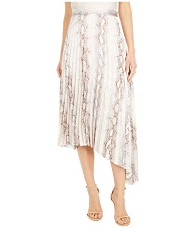 Bishop + Young Untamed Pleated Midi Skirt (Natural Python) Women