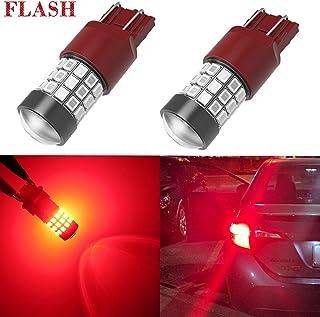 Alla Lighting Upgraded Version 7440 7443 LED Strobe Brake Lights Bulbs, Pure Red Flashing W21W T20 Wedge 7440LL 7443LL 744...