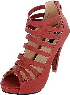 SHERRIF SHOES RED Gladiator Heels